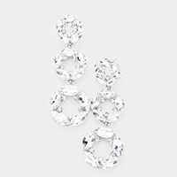 Marquise Crystal Drop Evening Earrings