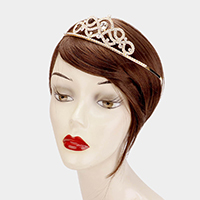 Pear Crystal Rhinestone Pageant Princess Tiara