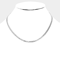 Metal Chain Link Collar Necklace