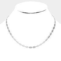 Metal Link Collar Necklace