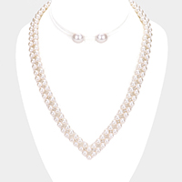 Pearl Statement Collar Necklace
