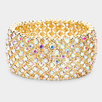 Crystal Rhinestone Stretch Evening Bracelet