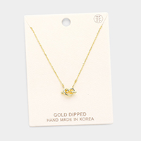 Gold Dipped Knotted Heart Pendant Necklace