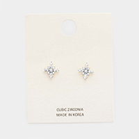 Cubic Zirconia Statement Stud Earrings