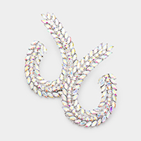 Marquise Round Crystal Rhinestone Evening Earrings