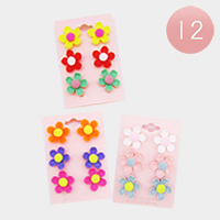 12 Sets of 3 - Spring Flower Earrings