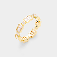 Gold Plated Crystal Statement Ring