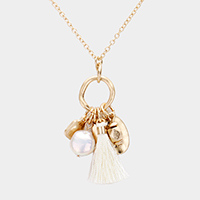 Freshwater Pearl Tassel Pendant Necklace