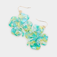 Celluloid Acetate Clover Earrings