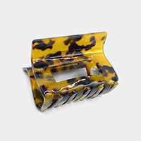 Rectangle Celluloid Acetate Hair Claw Clip