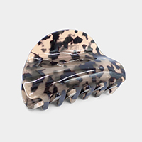 Round Celluloid Acetate Hair Claw Clip