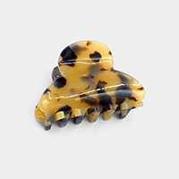 Round Celluloid Acetate Mini Hair Claw Clip