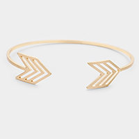 Brass Metal Chevron Cuff Bracelet