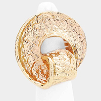 Chunky Textured Metal Stretch Ring