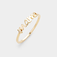 Brass Metal Mama Ring