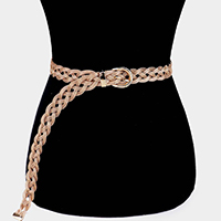 Braid Metal Buckle Belt