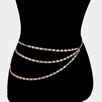3Row Layered Belly Belt