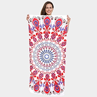 Multi Pattern Beach Towel and Drawstring Bag