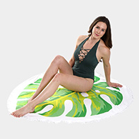 Monstera Leaf Shape Beach Towel