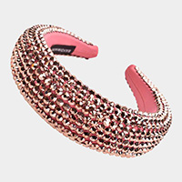 Faceted Bead Padded Headband