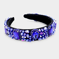 Crystal Bead Cluster Headband
