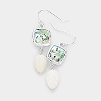 Abalone Mother of Pearl Drop Dangle Earrings