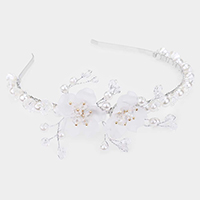 Bloom Flower Pearl Headband