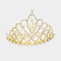 Crystal Rhinestone Princess Mini Tiara