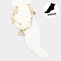 Hand Dangle Metal Link Anklet