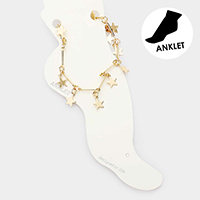 Star Dangle Metal Link Anklet
