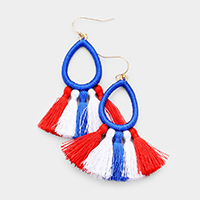 Threaded Tassel Dangle Earrings