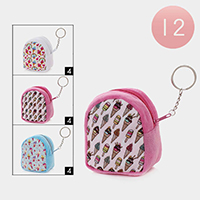12PCS - Ice Cream Coin Purse Key Chains