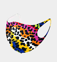 Fashion Multi Leopard Pattern Print Mask