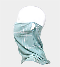 Plaid Line Print Seamless Face Tube Mask