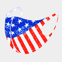USA Flag Print Fashion Mask
