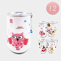 12PCS - Assorted Owl Portable Wet Wipes