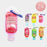 24PCS - 1.8OZ Travel Size Key Chain Sanitizers