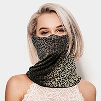 Leopard Print Seamless Face Tube Mask
