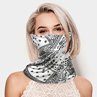 Paisley Print Seamless Face Tube Mask