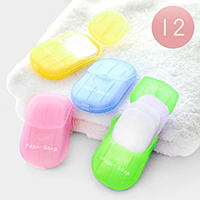 12PCS - Assorted Travel Size Paper Soaps