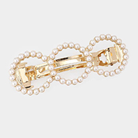 Pearl Triple Open Circle Barrette
