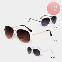 12PCS - Aviator Classic Sunglasses