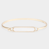 Rectangle Genuine Shell Hook Bracelet