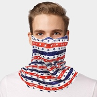 USA Flag Print Seamless Face Tube Mask