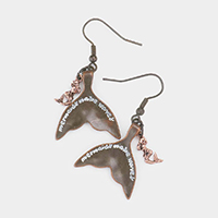 Mermaids make waves Mermaid Tail Dangle Earrings