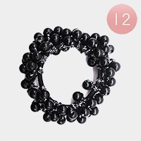 12PCS - Pearl Cluster Hair Bands