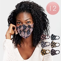 12PCS - Black Lives Matter Leopard Print Fashion Masks