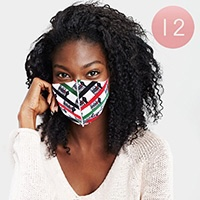 12PCS - Black Lives Matter Print Fashion Masks