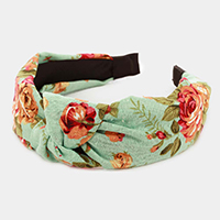 Flower Print Knot Headband