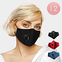 12PCS - Assorted Breathable Fashion Masks